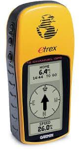 Yellow Garmin eTrex